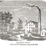 1875 picture of Beaumont Mill, Zanesville, Ohio.  Image courtesy of Muskingum County Genealogical Society.  Used with permission.
