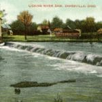 Hook Brothers & Aston Mill at Licking River Dam, Zanesville, Ohio.  Image courtesy of Muskingum County Genealogical Society.  Used with permission.