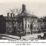 Muskingum County Courthouse.  Image courtesy of Muskingum County Genealogical Society.  Used with permission.