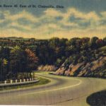 National Road east of St. Clairsville, Ohio.  Image from author's private collection