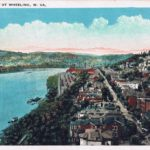 Ohio River at Wheeling.  Image from author's private collection