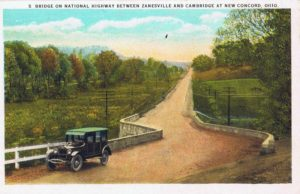 S Bridge on the National Road at New Concord, Ohio. Image from author's private collection