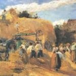 Threshing Machine, by Camille Pissarro. This image is in the public domain