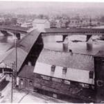 Y Bridge and Cassel Mill.  Image courtesy of Muskingum County Genealogical Society.  Used with permission.